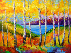 Gallery print  Bright birches by the river - Olha Darchuk