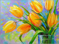 Wall sticker  Bouquet of yellow tulips - Olha Darchuk