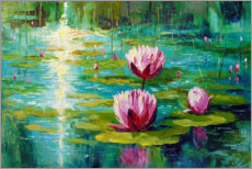 Wall sticker  Lilies in the pond - Olha Darchuk