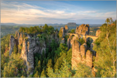 Premium poster  Bastei bridge on a summer morning - Michael Valjak