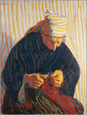 Wall sticker  Breton Peasant Woman Knitting - Roderic O'Conor