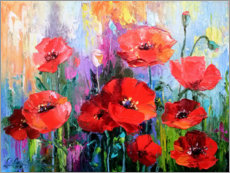 Gallery print  Poppies in the field - Olha Darchuk