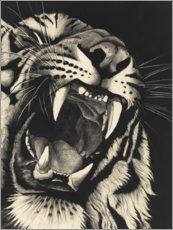Gallery print  Growling tiger - Rose Corcoran