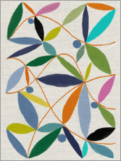 Foam board print  Leaves arrangement - Jenny Frean