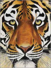Wood print  Tiger face - Rose Corcoran
