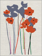 Foam board print  Poppies - Jenny Frean