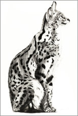 Canvas print  Serval - Rose Corcoran