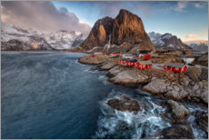 Foam board print  Sunrise in the Lofoten - Bjoern Alicke