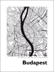 Premium poster City map of Budapest