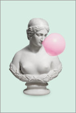Premium poster  Bust with bubble gum - Jonas Loose