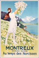 Acrylic print  Montreux (French) - Travel Collection