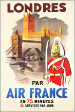 Premium poster  London with Air France (french) - Travel Collection