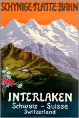 Canvas print  Interlaken - Travel Collection