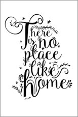 Aluminium print  There is no place like home - Dani Jay Designs