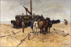 Wall sticker  Fishing boat on the beach - Anton Mauve