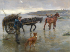 Foam board print  Seaweed Gatherers - Harold Harvey