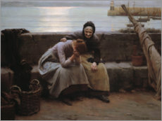 Acrylic print  Never Morning Wore to Evening - Walter Langley