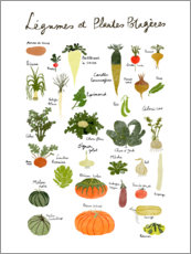 Premium poster Vegetables (French)