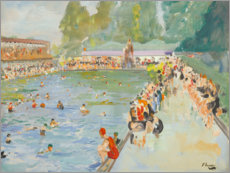 Premium poster  In the swimming pool (Chiswick Baths) - Sir John Lavery
