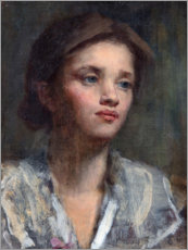 Gallery print  Portrait of a young woman - Irish School