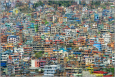 Foam board print  View over Kathmandu, Nepal - G & M Therin-Weise