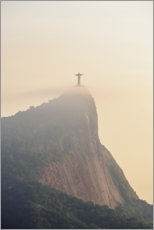 Premium poster Corcovado mountain at sunrise