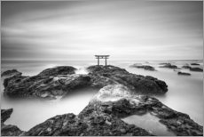 Premium poster Torii on the Japanese coast