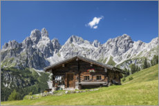 Acrylic print  Alpine Hut in the Austrian Alps - Gerhard Wild