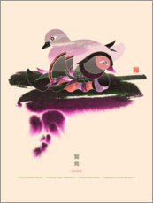Premium poster  Pair of Mandarin Ducks - Thoth Adan
