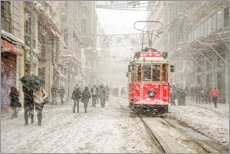 Aluminium print  Snowstorm in the city - Murat Bakmaz