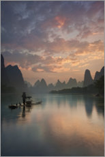 Wall sticker  Li River sunrise - Yan Zhang
