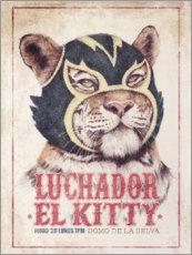 Aluminium print  El Kitty - Mike Koubou