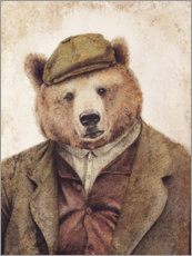 Acrylic print  Uncle Bear - Mike Koubou