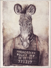 Wood print  Mugshot - Mike Koubou