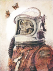 Wood print  Butterflies in Space - Mike Koubou