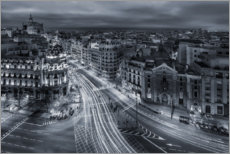 Premium poster  Madrid city lights - Javier De La
