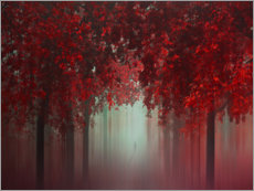 Acrylic print  Walk through the fall - Ildiko Neer