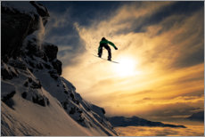 Wall sticker  Snowboarding at dusk - Jakob Sanne