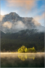 Premium poster In the morning at the Eibsee