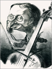 Wood print  Caricature of Jacques Offenbach - Nadar