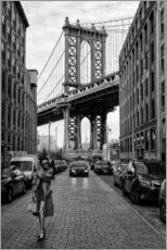 Premium poster  Brooklyn with Manhattan Bridge - Robert Bolton