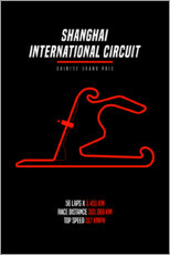 Premium poster F1 Chinese Grand Prix (Shanghai Intenational Circuit)