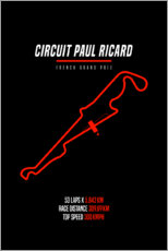 Premium poster F1 French Grand Prix (Paul Ricard Circuit)
