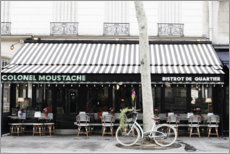Canvas print  Bistro and bicycle in Paris - Carina Okula
