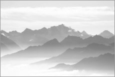 Premium poster French Alps panorama