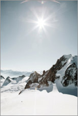Gallery print  Snow landscape in the French Alps - Carina Okula