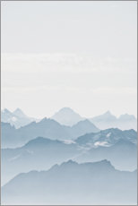 Premium poster French Alps in winter