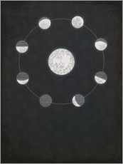Acrylic print  Floral Moon Phases - Sybille Sterk