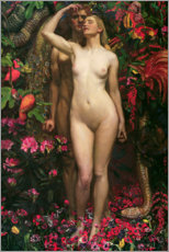 Canvas print  The Woman The Man the Serpent - Byam Shaw
