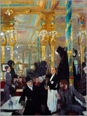 Wood print  The royal cafe in London - Sir William Orpen